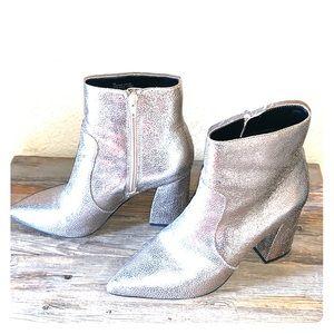 Gianni Bini metallic mid shin boots